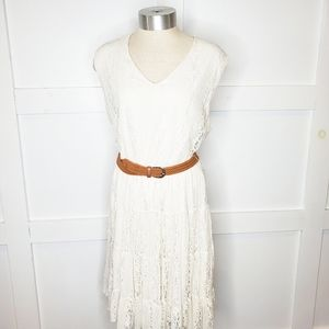 Forever 21 Woman Cream Lace Sleeveless Dress 1X